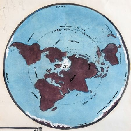 Samuel Shenton's Flat Earth map