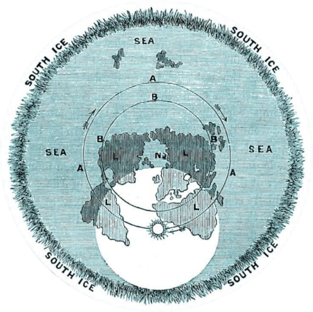 Rowbotham's Flat Earth Map of the World