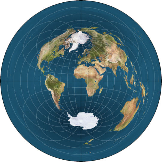 Monopole Flat Earth Map
