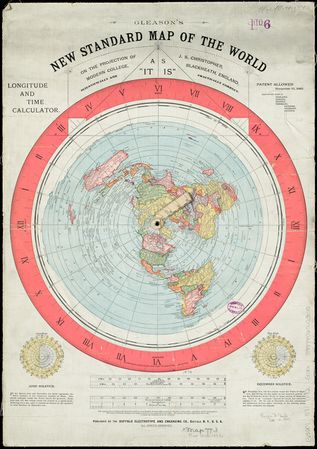 Gleason's New Standard Map of the World on the projection of J. S. Christopher, Morden College, Blackheath, England; scientifically and practically correct; as it is, November 1892.