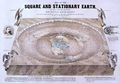 Prof. Orlando Ferguson's Map of the Square and Stationary Earth